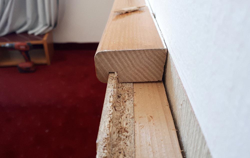 Bild von der Holzleiste